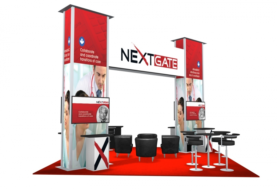 20x20 Turn-Key Trade Show Booth Design #1322