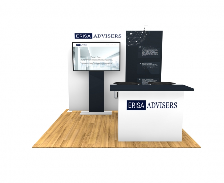 10x10 Turn-Key Trade Show Booth Design #1401
