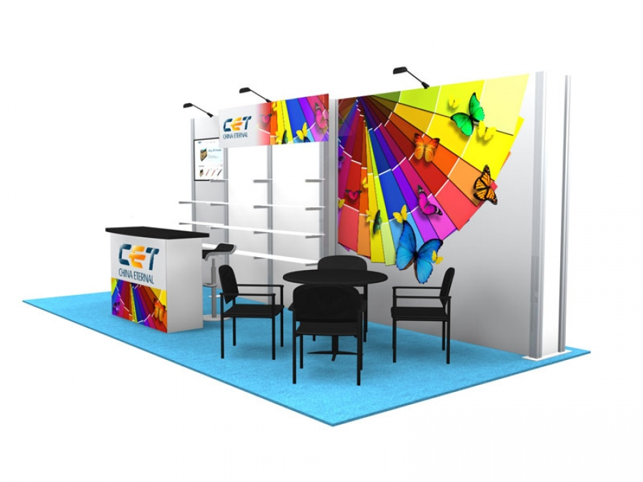 10x20 Turn-Key Trade Show Booth Design #1299